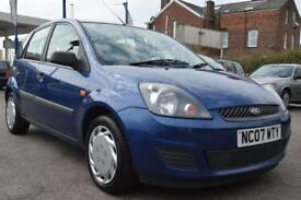 FORD FIESTA 1.2 STYLE CLIMATE 16V 5d 78 BHP 12 MONTH MOT 3 MONTHS WARRANTY (blue) 2007