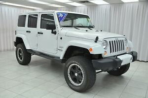 2016 Jeep Wrangler SAHARA UNLIMITED 4x4 SUV w/ HEATED LEATHER, R