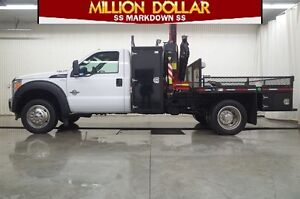 2013 Ford F-550 R/CAB XL 4X4 PICKER TRUCK