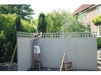 3 x 6'x6' Premium grade fence panels with trellis.