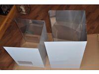 Cooker Hood Chimney Cover Stainless Steel White