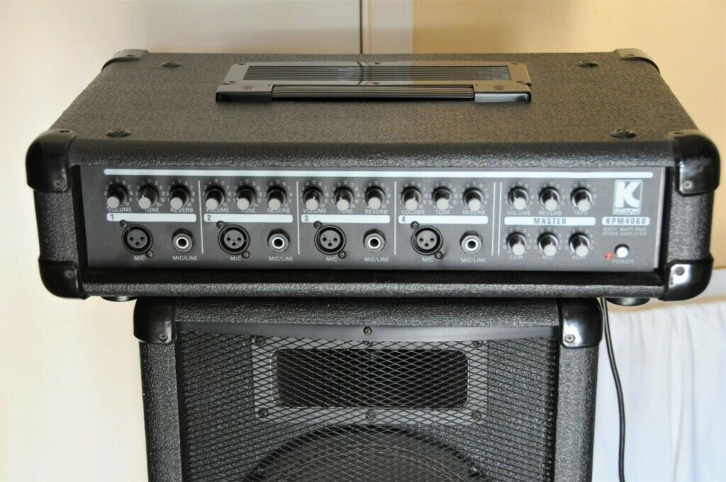 KUSTOM KPM4060 MIXER AMP + 2 SPEAKERS, LEADS, MANUAL | in Norwich, Norfolk  | Gumtree