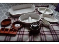 White and Terracotta Crockery/Oven to Tableware (bundle)