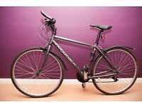 Ridgeback motion hybrid bike - barely used, with lock, pump and lights