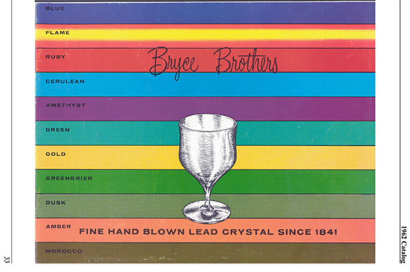 Bryce Brothers glass 1950-65 history & catalog reprints
