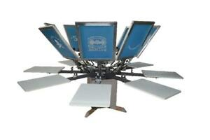 Screen Printing 8 Color 8 Station Double Rotary Printing Equipment 219009