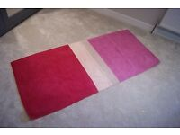 Pink and cream large rug