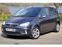 2007 Ford C-Max 1.8 16v Zetec 5dr+FREE 3 MONTHS WARRANTY+JUST SERVICED+READY TO DRIVE AWAY