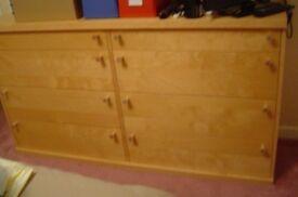 Ikea birch bedroom furniture - drawers