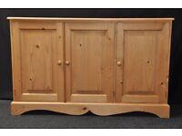 2x Pine 3 door cupboard / sideboard