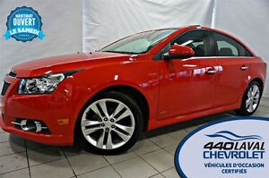 2014 Chevrolet Cruze 2LT*RS*GPS*CUIR*TOIT*MAGS 18 PO*