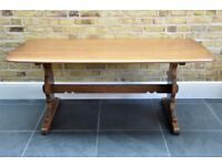 Vintage Retro Large Ercol Refectory Dining Table model 756 - Golden Dawn Finish