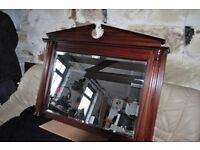 MANTLE MIRROR…GOOD CONDITION….121CMTS W X95CMTS D