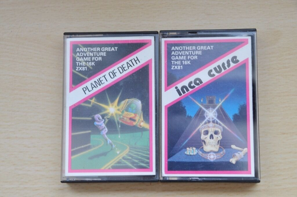 Very Rare Sinclair ZX81 Artic Computing games, Planet of DeathInca Curse, Thatcham, Berkshirein Reading, BerkshireGumtree - Sinclair ZX81 Planet of Death 16K Artic Computing Sinclair ZX81 Inca Curse 16K Artic Computing Both in good condition £9 for both cash on collection only