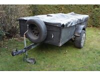 8 x 4 ft Trailer with Cover and Spare Wheel
