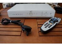 White Sky+ Box with Remote & Cable