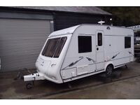 R&K CARAVANS 2006 COMPASS OMEGA 484 4 BERTH FIXED BED, 12 MONTHS WARRANTY SUBJECT TO CONDITIONS