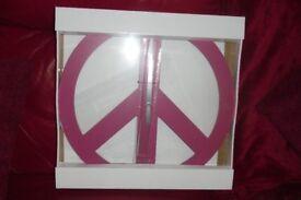 NEW IN BOX DARK PINK MODERN WALL CLOCK