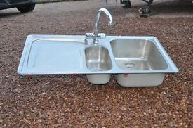 Franke Stainless Steel Sink (Bowl and a Half)