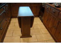 Oak Oval Drop Leaf Table
