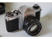 pentax s1a 35mm slr film camera 50mm f1,4 super takumar lens