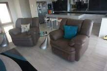 Genuine Leather Lounge with Recliners Mermaid Waters Gold Coast City Preview