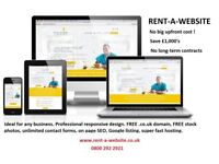 CHEAP WEBSITE | RENT-A-WEBSITE SAVE £1000'S | FROM £24.99/MONTH | 100'S SATISFIED CUSTOMERS