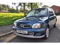 Nissan Micra 1.0 manual, 2001 reg Blue *2 keys**low mileage