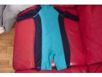 AGE 2-3 YEARS BOYS LITTLE BLUE ALL IN ONE SWIMMING SUIT