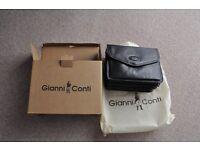 New luxury Gianni Conti fine leather Italian cross body shoulder handbag satchel