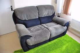 Sofology two seater fabric recliner sofa