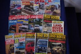 JOB LOT 13 LAND ROVER & 4x4 MAGAZINES-1990's-GOOD USED-COLLECTION ONLY BENFLEET