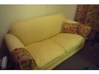 Smart cream metal action Sofabed - fire regs