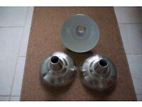 3 Silver B&Q metal lampshades