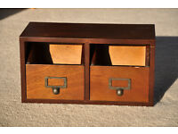 Solid wood desk drawers for storage and stationery
