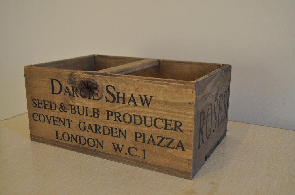 decorative wooden crate