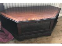 Solid mahogany television display cabinet
