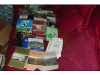 VERY LARGE COLLECTION OF BOOKS ON PLACES TO VISIT IN ENGLAND