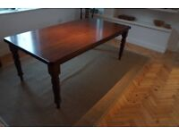 Large dining table for sale - antique style mahogany veneer