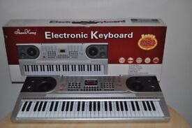 electric keyboard SHEN KONG 61 standard keys silver brand new