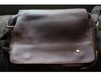 Leather Man Bag - with adjustable strap (VGC)