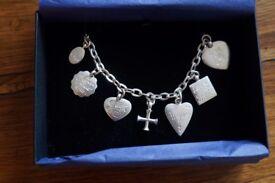WRIGHT & TEAGUE Silver 925 Sentiment Charm Bracelet