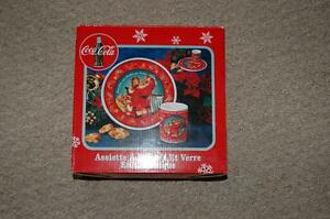 Coca Cola Christmas Cookie Plate and Tumler