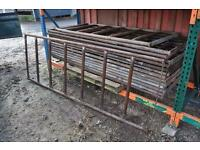 Cattle feed barrier (x14) 8ft x 3ft NO VAT