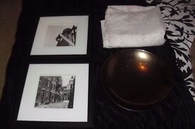 SELECTION OF HOUSEHOLD ITEMS PICTURES, BEDDING, BOWL
