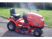 """Ride on lawnmower Simplicity Broadmoor 16hp eng 40"""" deck dom /com quality recently serviced ex cond"""