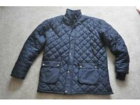 2 items Mens Navy Padded Jacket also Mens Padded Blue/Cream/Brown Shirt size XL towards XXL