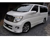 Nissan Elgrand direct Japan import supplied fully UK reg, more enroute contact Algys Autos