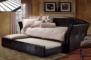 DAY BED IN BLACK *MATTRESSES SOLD SEPARATELY
