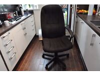 High backed office chair and office desk £35